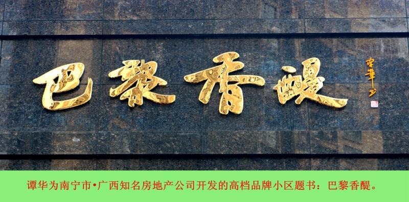 谭华书法招牌系列2